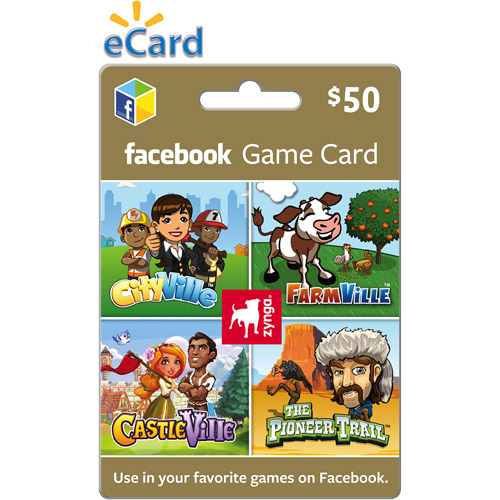 Zynga Facebook $50 eGift Card (Email Delivery)