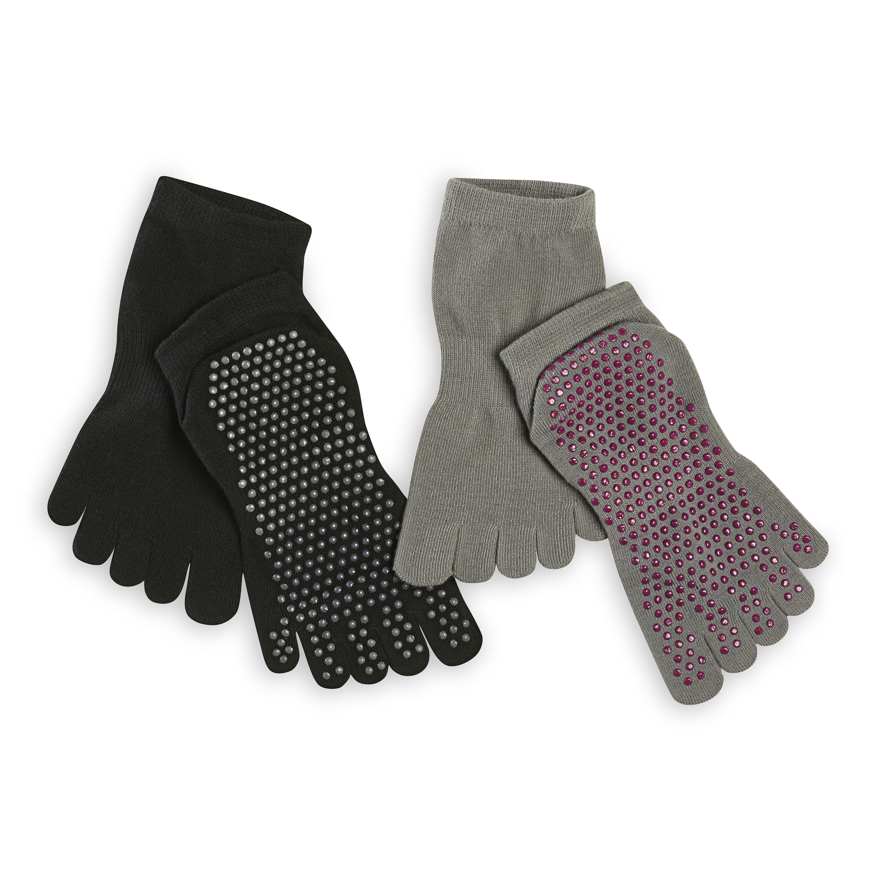 Grippy Yoga Socks, 2-Pack