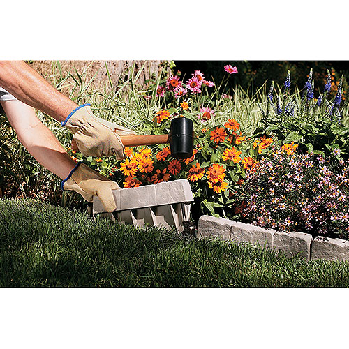 Suncast 12u201d Border Stone Edging, 10 Pack   Walmart.com