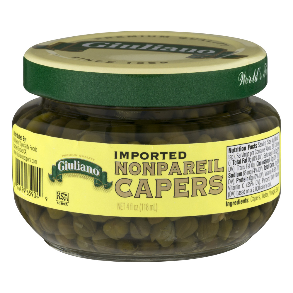 Giuliano Imported Non Pareil Capers, 4.0 FL OZ by Giulianos' Specialty Foods