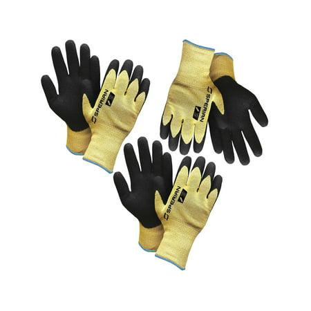 Sperian3 Pairs Of Heavy Duty Nitrile Coated Kevlar Atlas Work Gloves