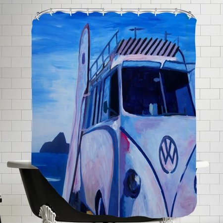 East Urban Home The Volkswagen Bully Series Bus Shower Curtain