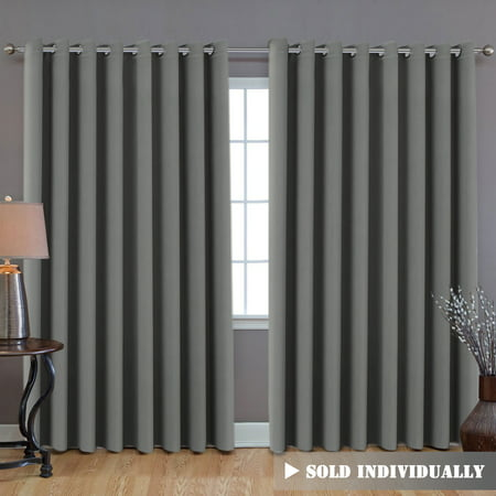 Blackout Patio Grey Curtains, Extra Long and Wider (100