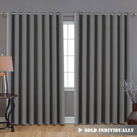 Blackout Patio Grey Curtains Extra Long And Wider 100 Quot W