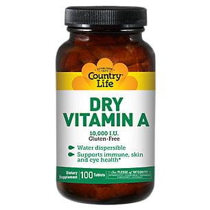 Vitamine A 10 000 UI par 100 comprimés Country Life