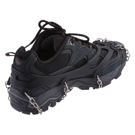 AGPtEK Anti-slip Overshoes Snowshoe Crampon Cleats with Chains