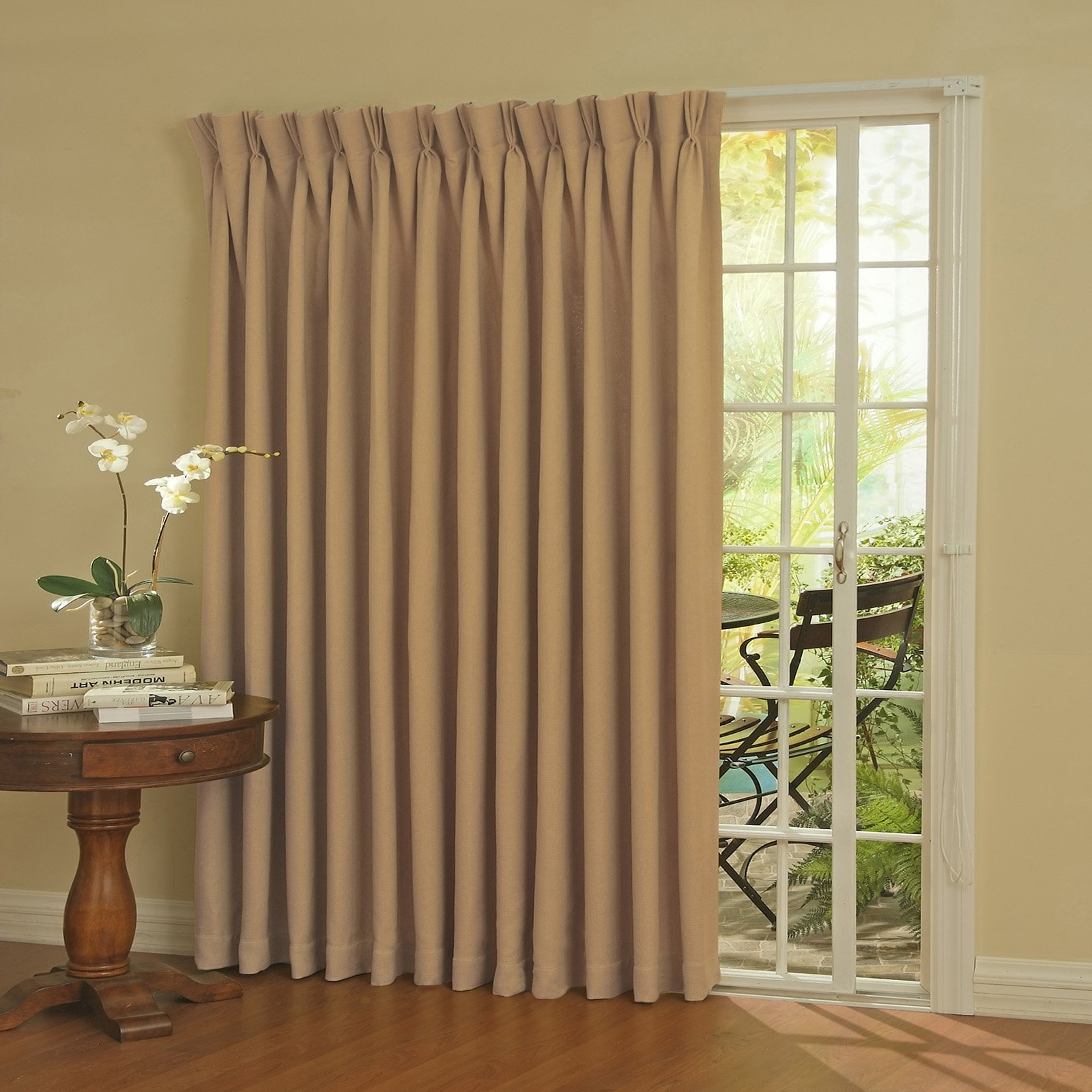 Eclipse Thermal Blackout Patio Door Curtain Panel Walmart