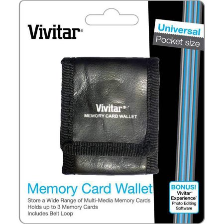 Vivitar Tri-fold Memory Card Wallet - Stores up to 3 Memory Cards