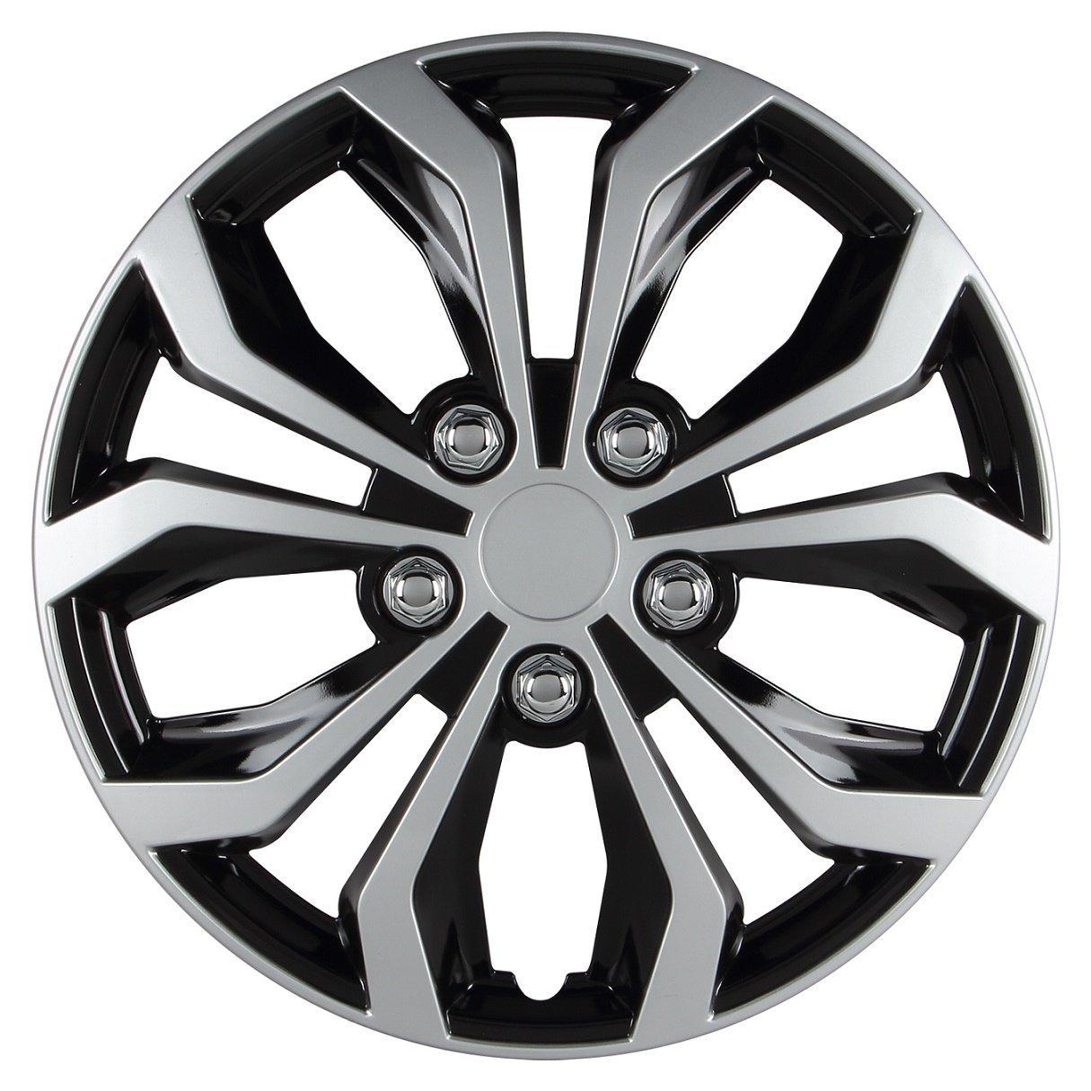 Pilot Hubcap Wheel, Black And Silver Universal Spyder Per...