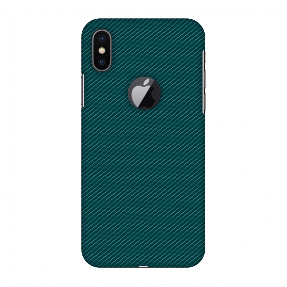 iPhone X Case, Premium Handcrafted Designer Hard Snap on Shell Case ShockProof Back Cover with Screen Cleaning Kit for iPhone X - Shaded Spruce Texture, Cut for Apple Logo