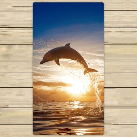 ZKGK Dolphins Hand Towel Bath Towels Beach Towel For Home Outdoor Travel Use Size 30x56 Inches