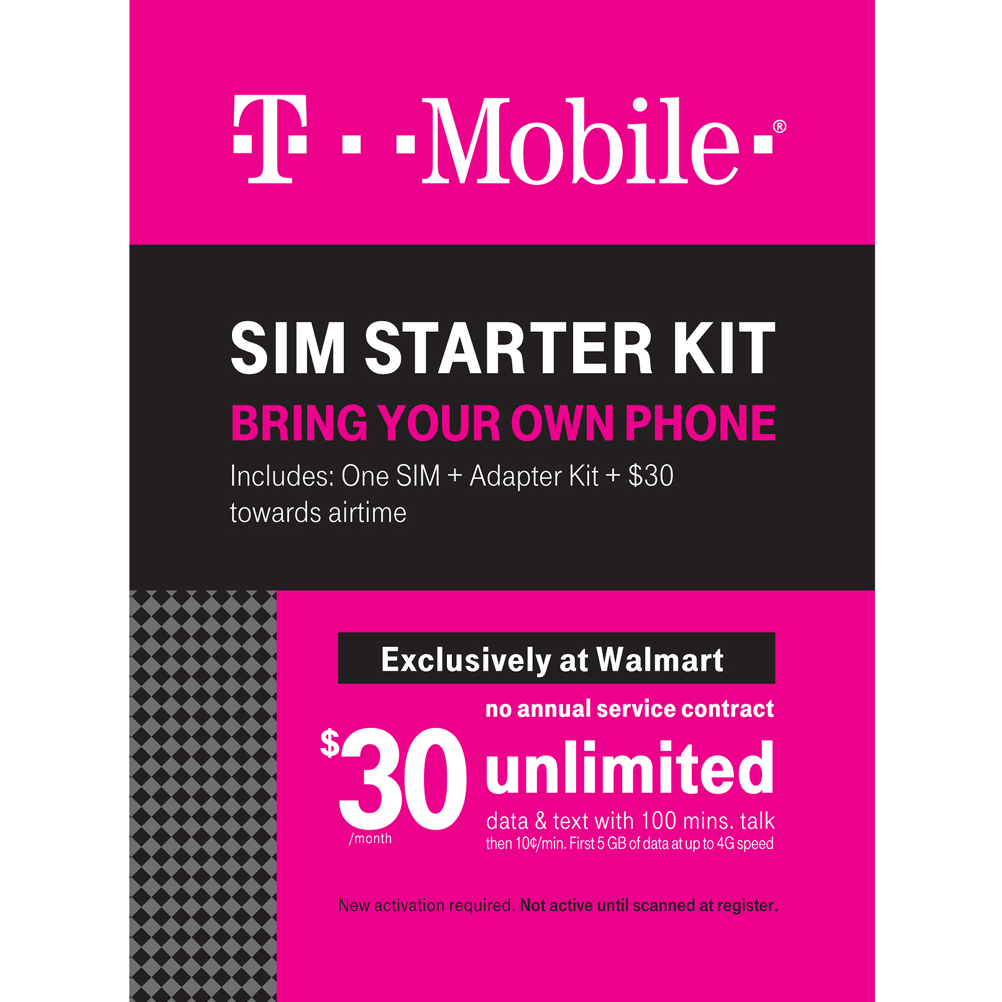 t mobile plete sim kit walmart