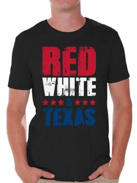 4d9486b5f4 Product Image Awkward Styles Red White & Texas Shirt for Men American Men  USA Flag Shirts Texas Tshirt