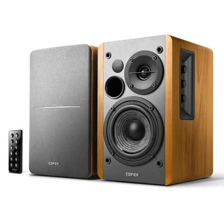 Edifier R1280DB Powered Bluetooth Bookshelf Speakers - Optical Input - Wireless Studio Monitors - 4 Inch Near Field Speaker - 42w RMS - Wood