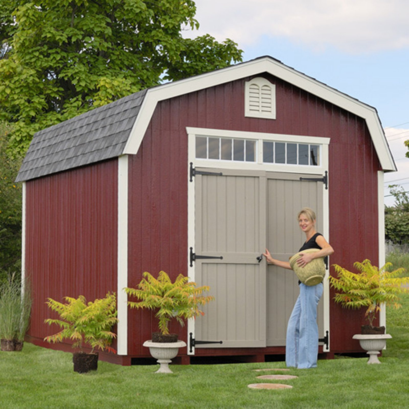 Little Cottage 10 X 20 Ft. Woodbury Colonial Panelized Storage Shed    Walmart.com