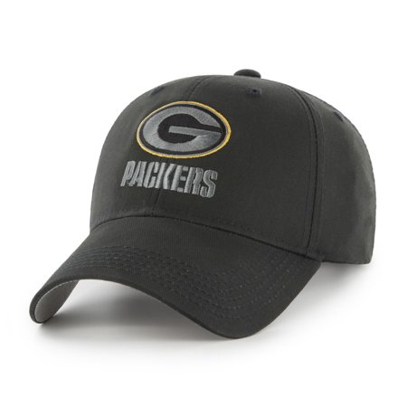 NFL Green Bay Packers Black Mass Basic Adjustable Cap/Hat by Fan Favorite