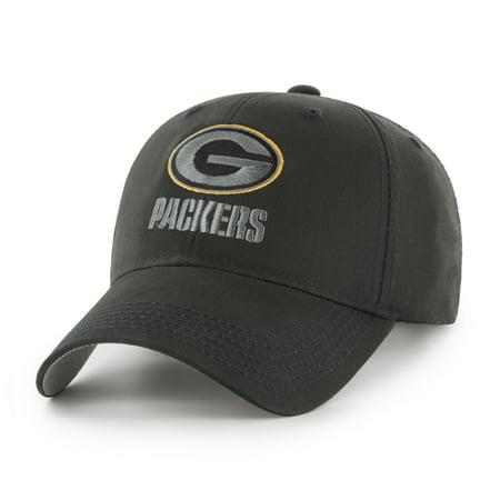 NFL Green Bay Packers Black Mass Basic Adjustable Cap/Hat by Fan Favorite (Green Bay Packer New Era Hat)