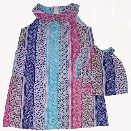Size 12 Versatile Matching Girl and Dolls Patchwork Dress for $<!---->