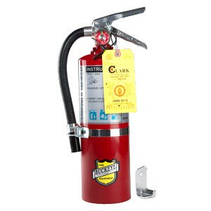 (Lot of 2) 10 Lb. Type ABC Dry Chemical Fire Extinguishers with Wall Hooks and Inspection