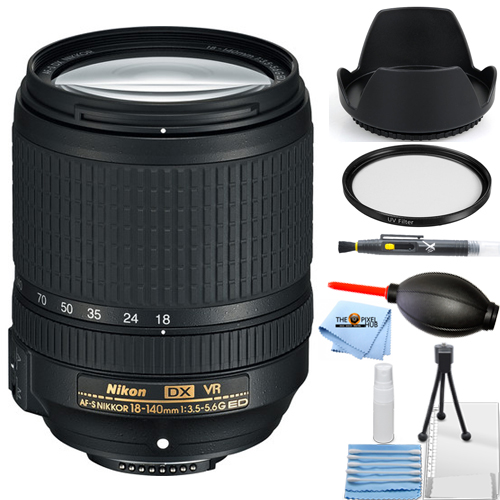 Nikon AF-S DX NIKKOR 18-140mm f/3.5-5.6G ED VR Lens STARTER BUNDLE White Box