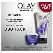 Olay Retinol 24 Duo Pack, Cleanser 5.0 fl oz, Night Cream Moisturizer 1.7 oz