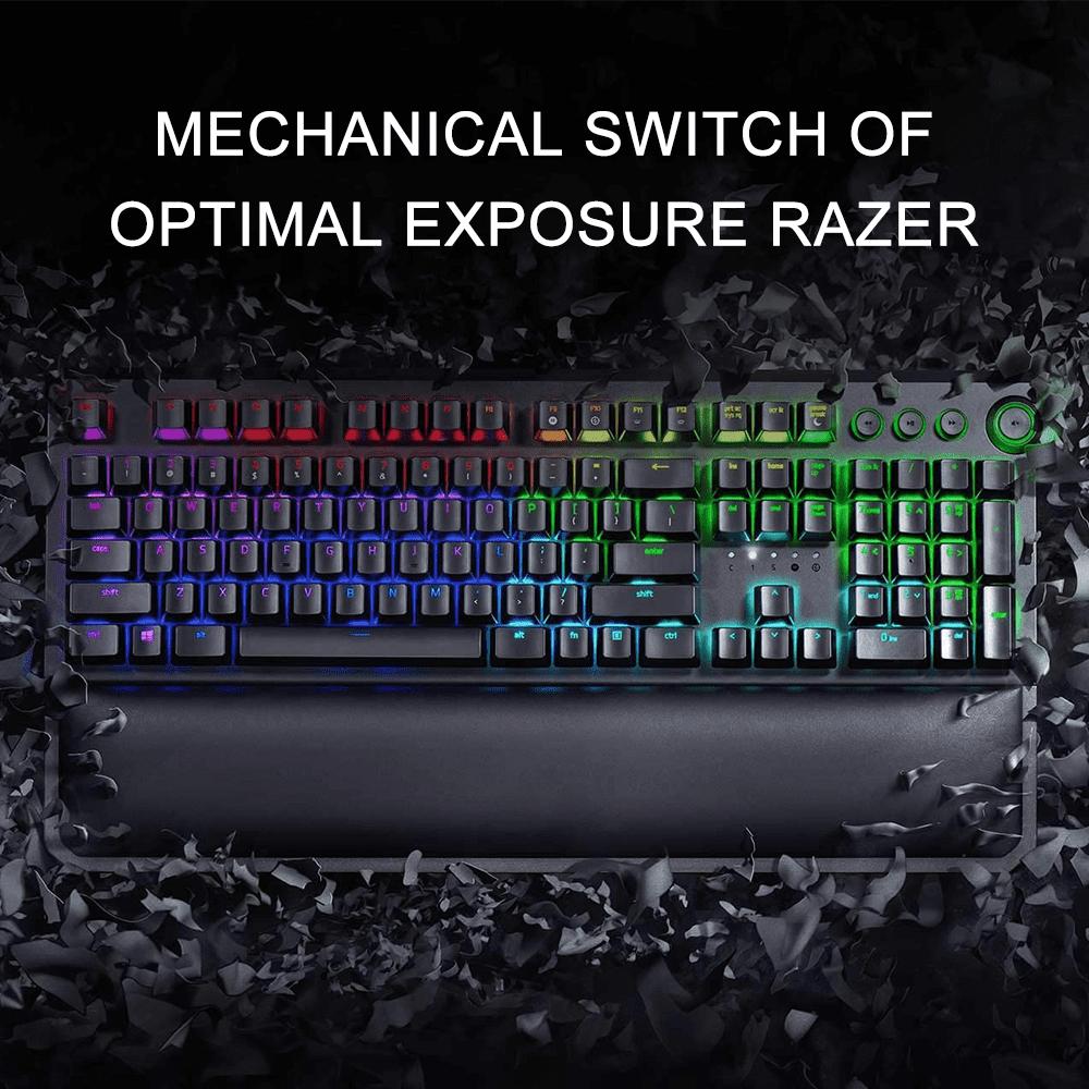 Color : Black Feel Good and React Fast Green Axis Material Mechanical Keyboard Internet Bar Metal Mechanical Keyboard 104 Tonality Game Led Backlit Keyboard JIADUOBAOSEN