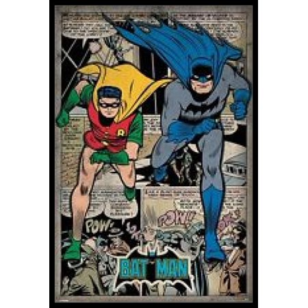 Batman and Robin - Comic Montage Poster Poster