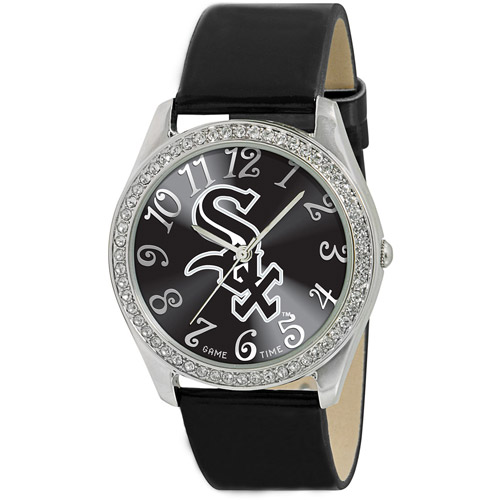 Game Time MLB Women's Chicago White Sox Glitz Watch, Silver