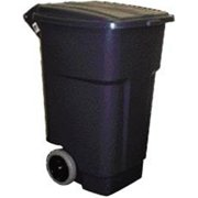 Quality Home Items 558659 Trash Can 50 Gallon Square with Lid