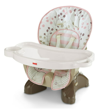 Fisher price spacesaver high chair berry for Silla fisher price para comer