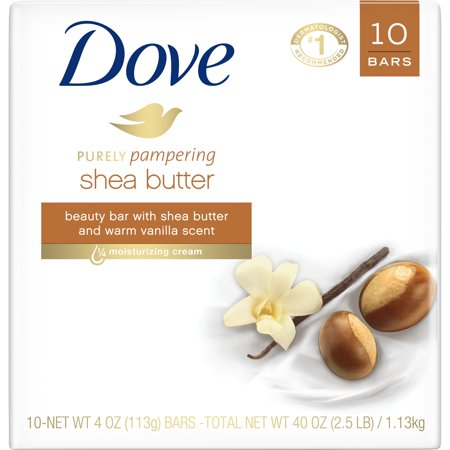 Dove Beauty Bar Shea Butter 4 oz, 10 Bars (Top 10 Soap Brands In India 2017)