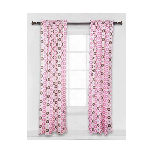 Bacati Mod Dots Rod Pocket Single Curtain Panel