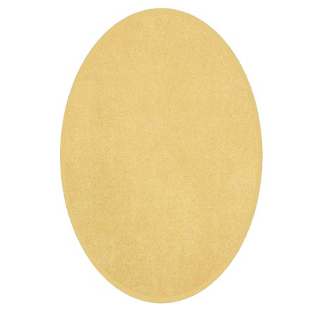 Saturn Collection (Saturn Collection Kids Favourite Area Rugs Yellow - 3'x5' Oval)