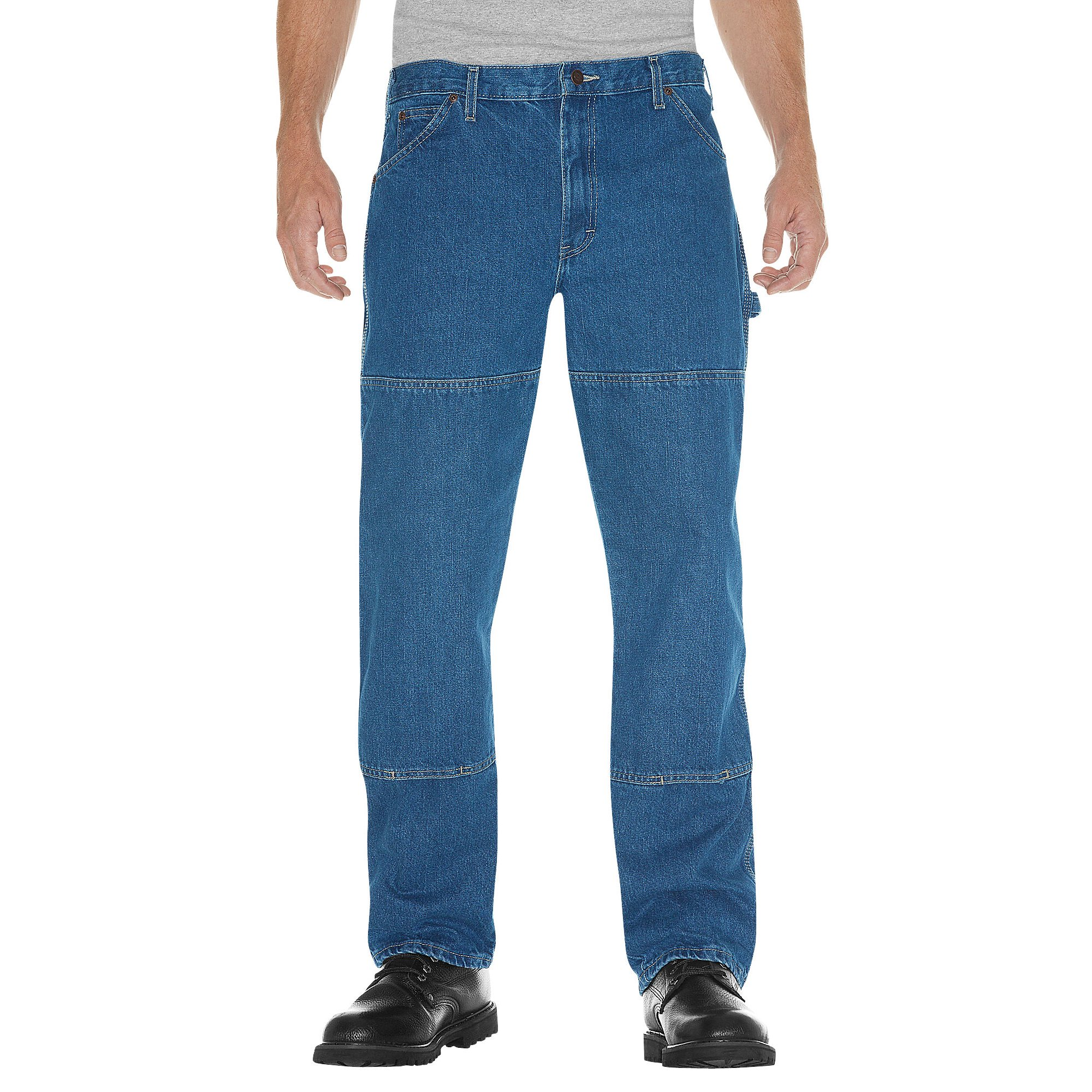 a97eaf771e0 Dickies Mens Relaxed Fit Double Knee Carpenter Denim Jeans, 44W x 30L
