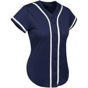 Ma Croix Women's Baseball Button Down Hip Hop Jersey