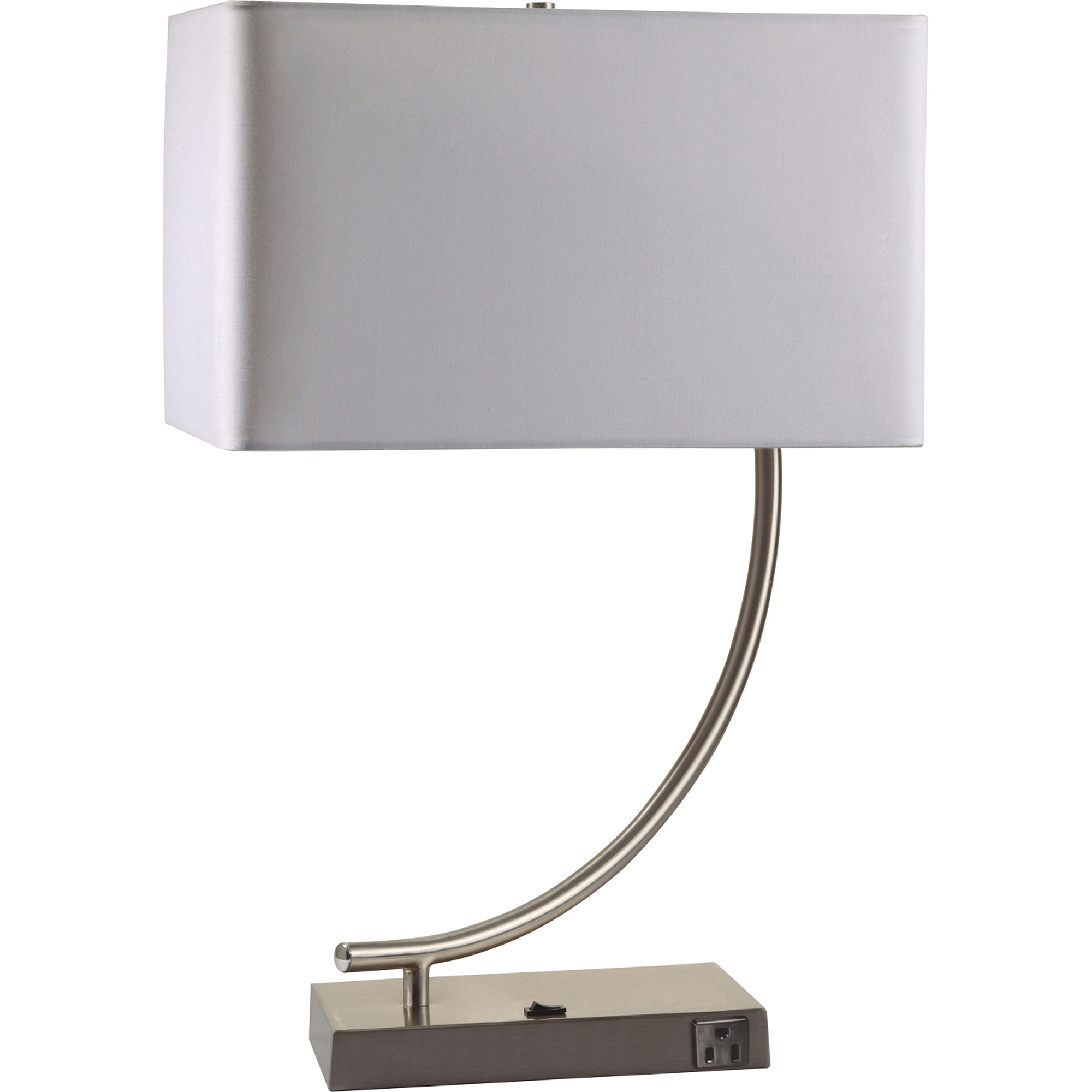 Awesome Contemporary Table Lamp With Convenient Outlet   Walmart.com