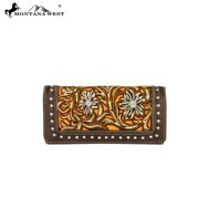 MW371-W002 Montana West Embroidered Collection Wallet