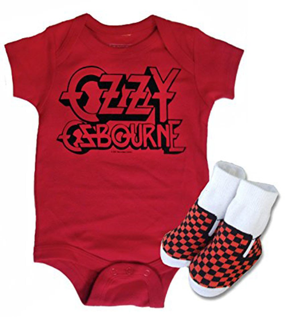 Black Sabbath Baby Onesie Ozzy Osbourne Metal Unisex Gerber Organic Cotton