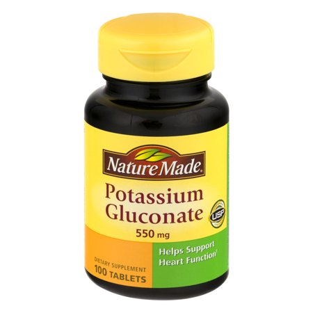 Nature Made Potassium Gluconate Tablets, 550 Mg, 100 Ct