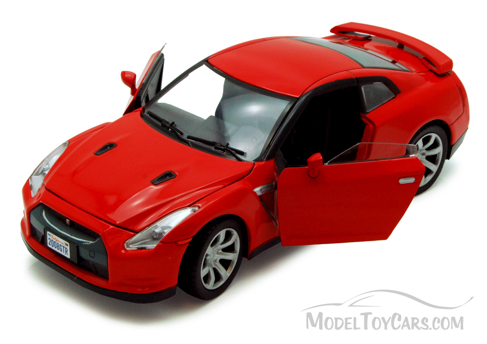 Nissan Gt R Red Motormax 73384 1 24 Scale Cast Model Toy Car