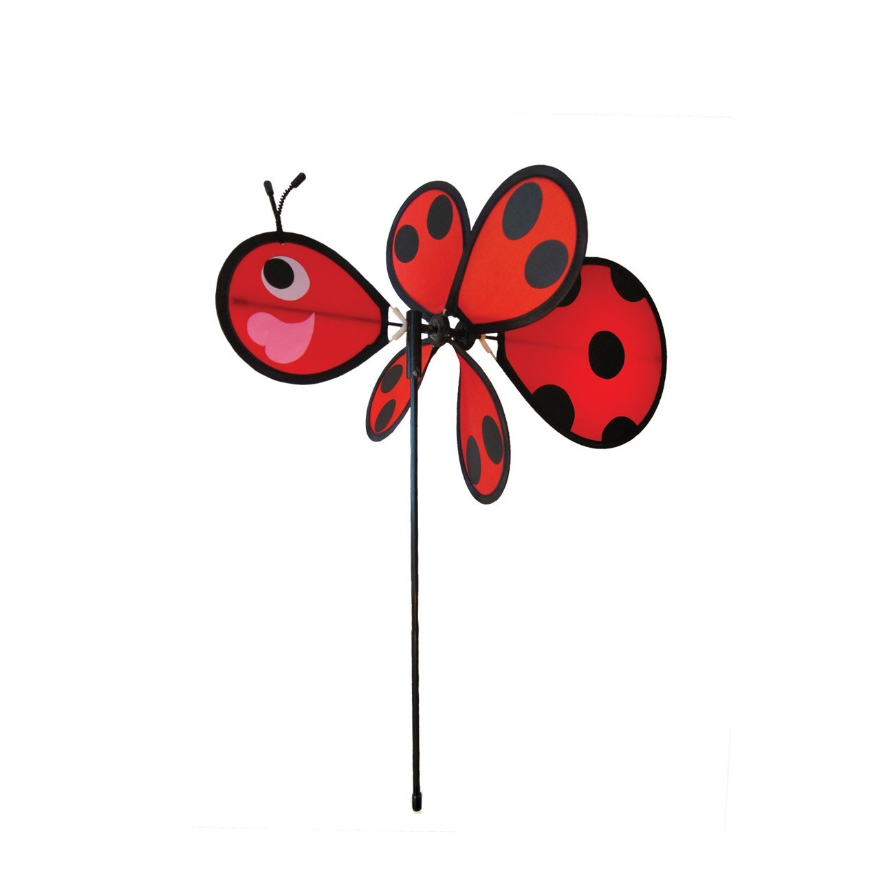Baby Bug Ladybug Wind Spinner Silk Screened Details Fun Spinner for your Flower Pot's,... by
