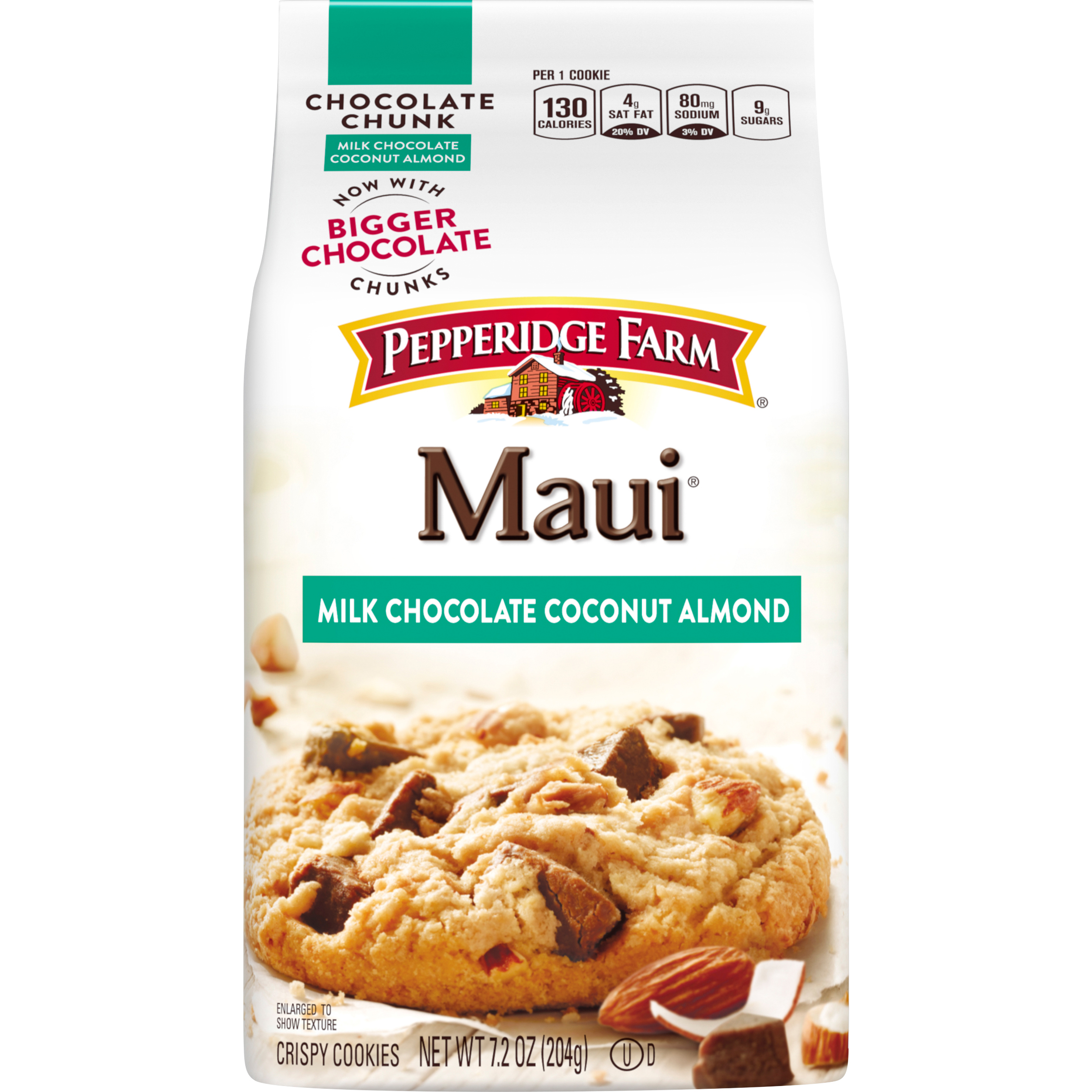 Pepperidge Farm Maui Crispy Milk Chocolate Coconut Almond Cookies ...