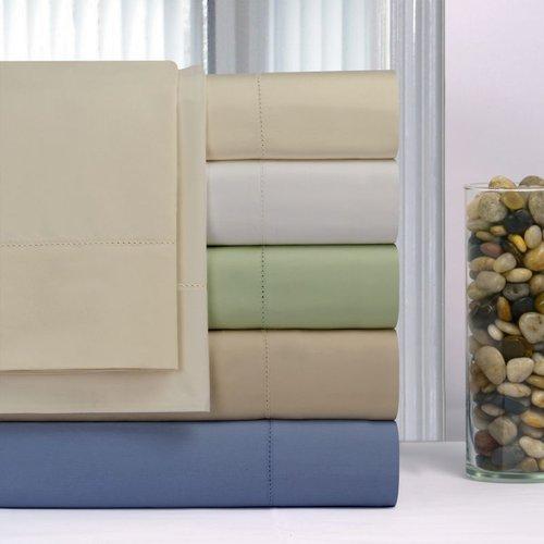Pointe Haven 600 Thread Count Pima Cotton Deep Pocket Hemstitch Sheet Set King Pillow Case