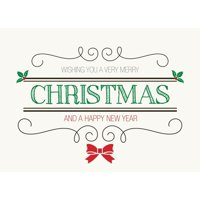 CEO Cards Christmas Greeting Card Box Set of 25 Cards & 26 Envelopes - H1604