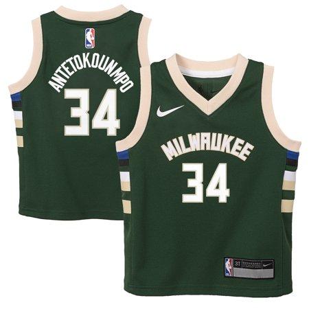 premium selection 184c9 4bc37 Giannis Antetokounmpo Milwaukee Bucks Nike Toddler Replica Jersey Green -  Icon Edition