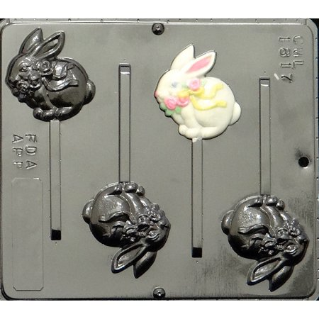 1817 Bunny Pop Lollipop Chocolate Candy Mold