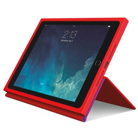 Logitech BLOK Protective Case with AnyAngle Stand for iPad Air 2, Red/Violet (Ipad Air 2 Logitech Type+)