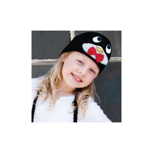 Kids Peppy The Penguin Beanie by Knitwits - A602K