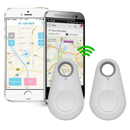 Spy Mini GPS Smart Tracking Finder Auto Car Pets Kids Tracker Alarm Key Track Device White