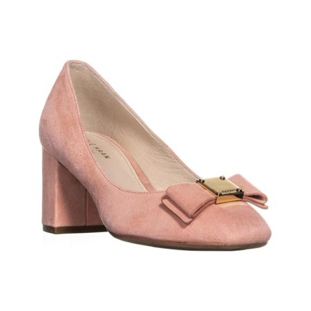 Womens Cole Haan Tali Bow Block Heel Pumps, Coral Almond, 5 US